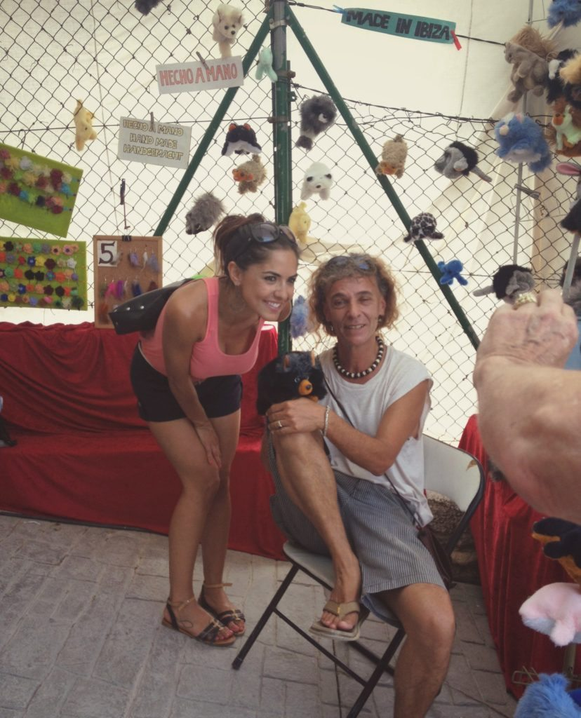 Photo of the puppet maker from the Ibiza hippie market