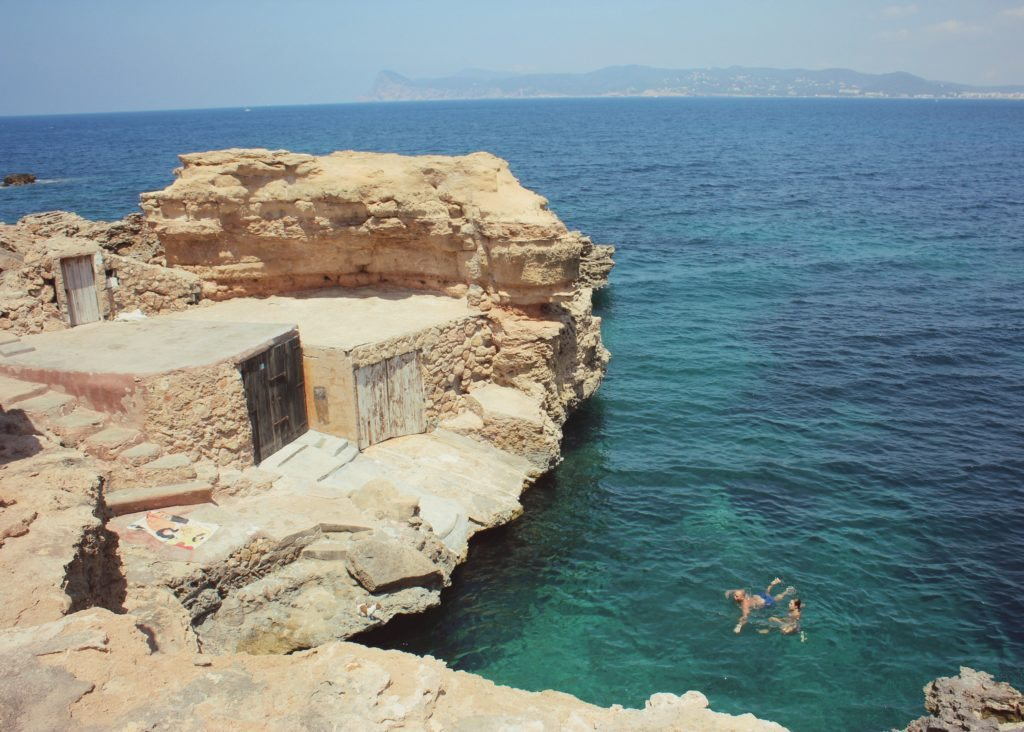 Photo of a hidden cove in Ibiza