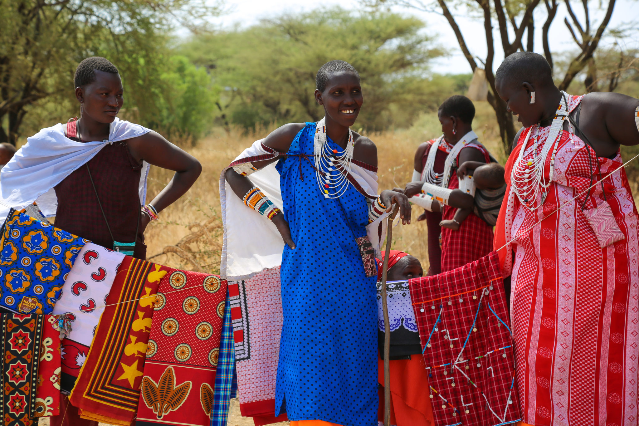 Maasai Women Selling Crafts - Mar Gone Wild