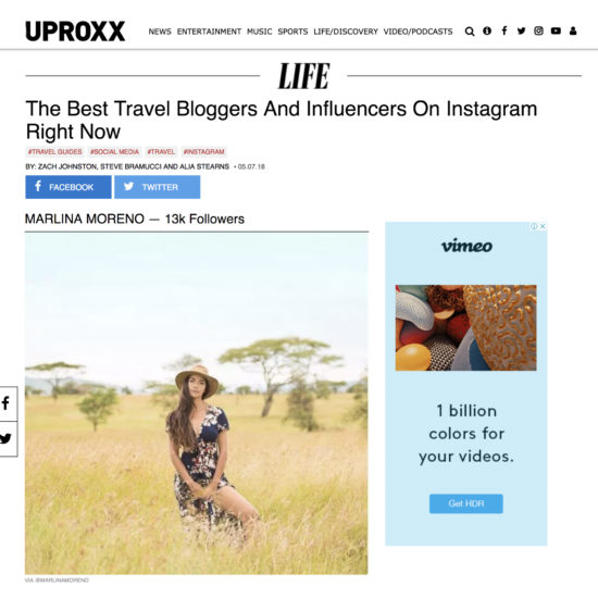 Top Travel Bloggers Marlina Moreno for Mar Gone Wild